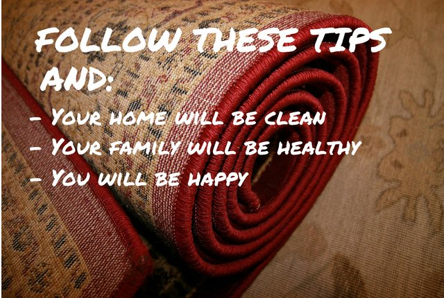 helpful tips for a cleaner home graphic