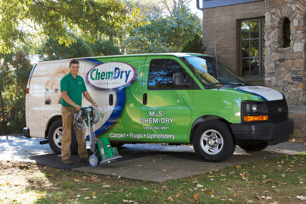 M.S. Chem-Dry technician commercial carpet cleaning in Omaha, NE