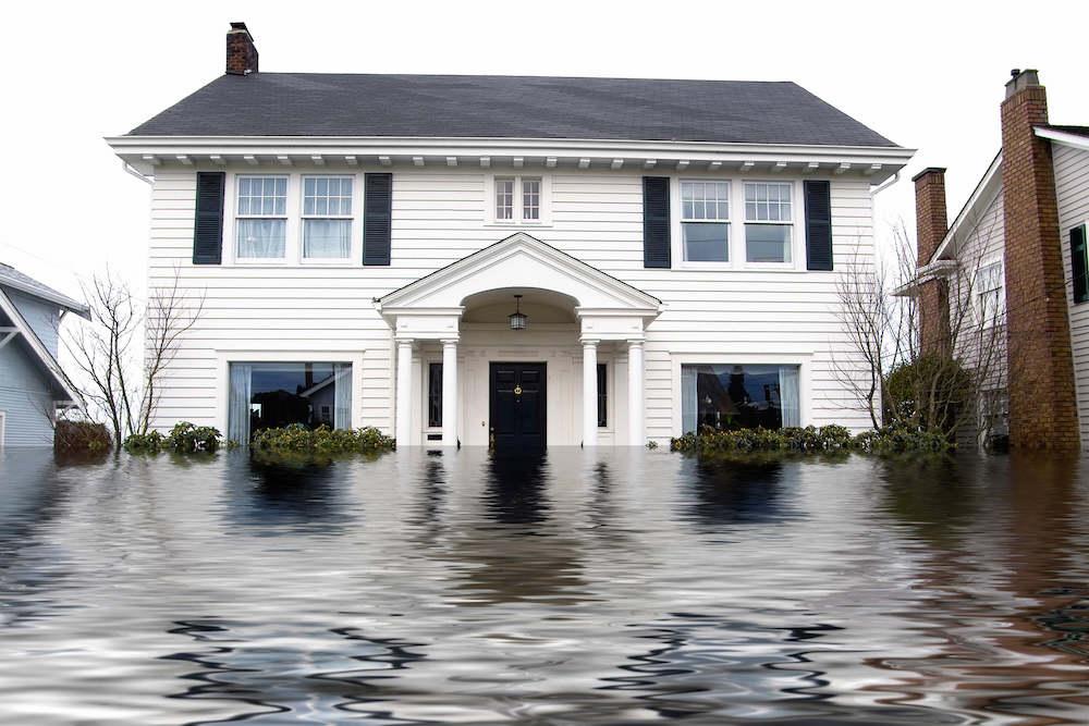 flooded home exterior in omaha ne