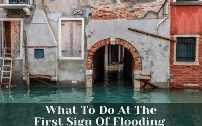 What To Do At The First Sign Of Flooding In Your Home Or Office