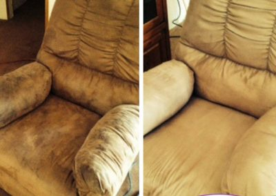 before and after upholstery cleaning in omaha