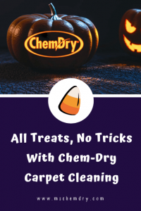 all treats, no tricks with chem-dry carpet cleaning graphic